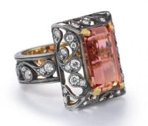 precious topaz ring flora noir ring