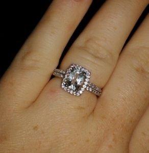 white topaz wedding ring