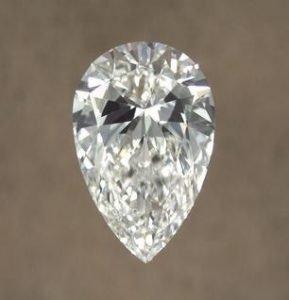 bowtie effect pear diamond