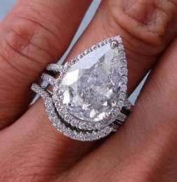 pear shaped diamond wedding ring set - Pear Shaped Wedding Ring