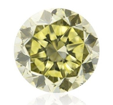 1.07 CT Round I2 Yellow Fancy Loose Diamond