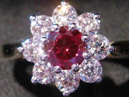 red diamond flower