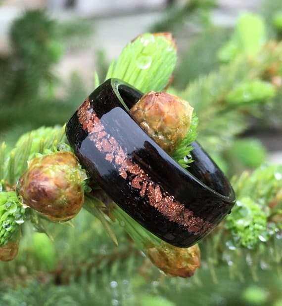bentwood-ring-macassar-ebony-and-goldstone-inlay