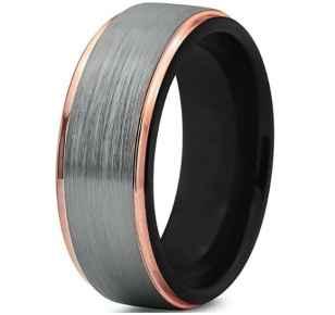 tungsten-wedding-band-ring-8mm-for-men-women-black-18k-rose-gold-stepped-edge-polished