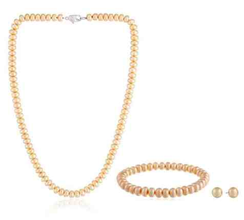 Honora Bridal Freshwater Cultured Pearl Necklace, Bracelet and Earrings Set