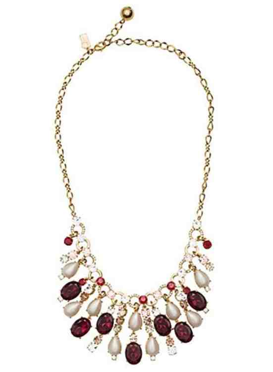 Kate Spade 'Pearly Mix' Statement Necklace, Ruby-Red