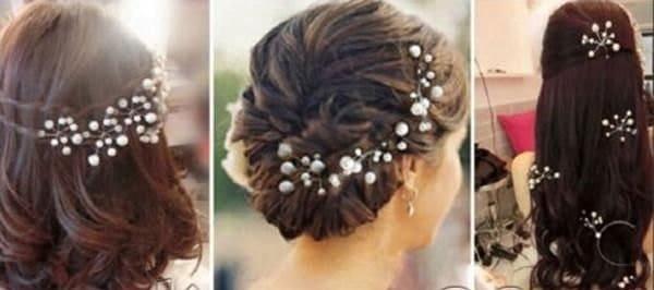 Pearl bridal hair pins x 6 pearl wedding bridal pins wedding hair accessories