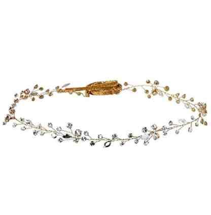 Twigs & Honey Women's Simple Crystal Hair Vine Bridal Hairpiece