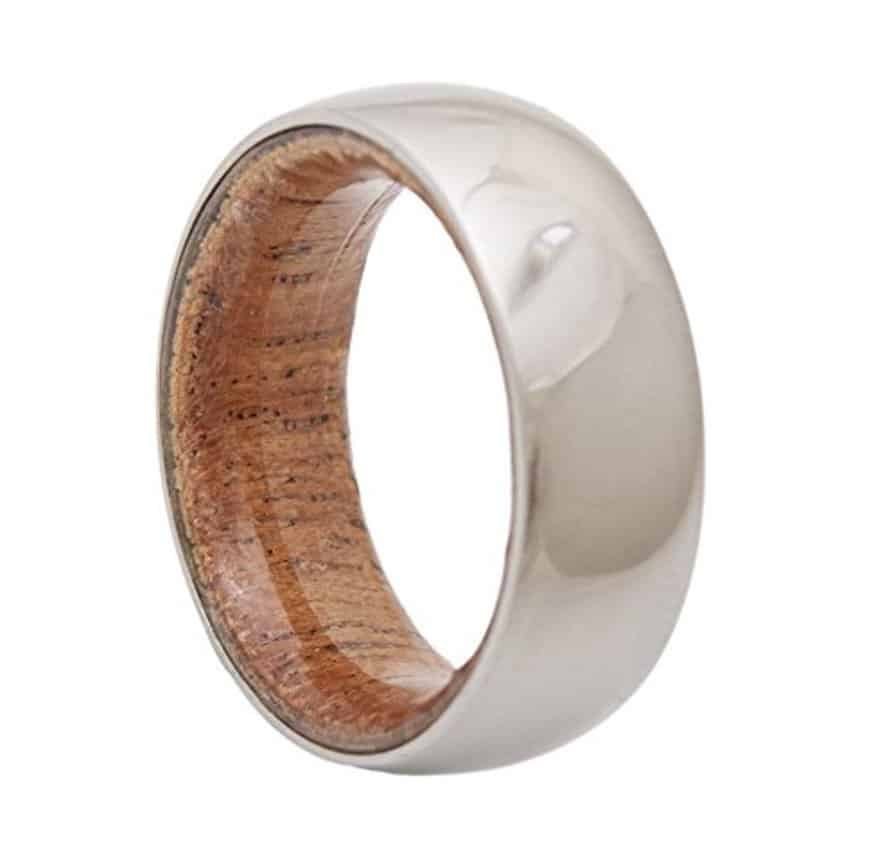 Tungsten Carbide Ring Men/'s Wedding Band Wood Inlaid Color Size 8-14