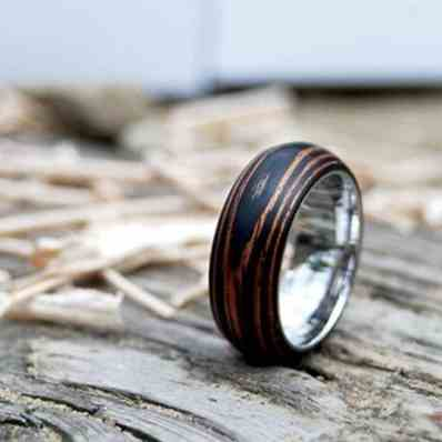 mahogany wooden wedding ring