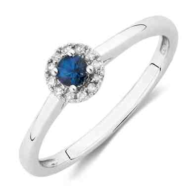 sapphire and diamond promise ring