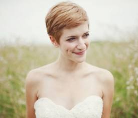 brides with very short hair on your wedding day