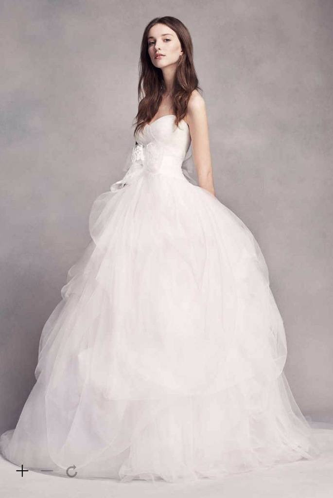 White By Vera Wang Hand Draped Tulle Wedding Dress