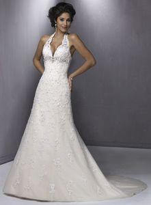 halter wedding dress neckline