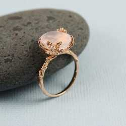 rose gold gemstone rings jewelry