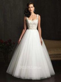 square neckline wedding dress