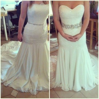 change wedding dress neckline