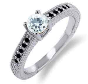sky blue aquamarine and black diamond