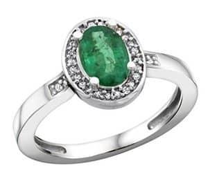 sterling silver diamond natural emerald
