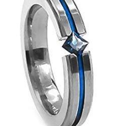 titanium sapphire tension set