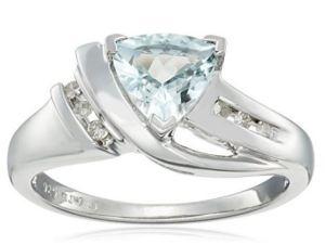 trillion aquamarine and diamond