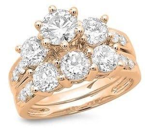 three diamond bridal set