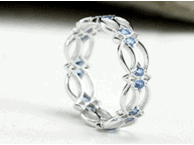 blue topaz celtic knot ring