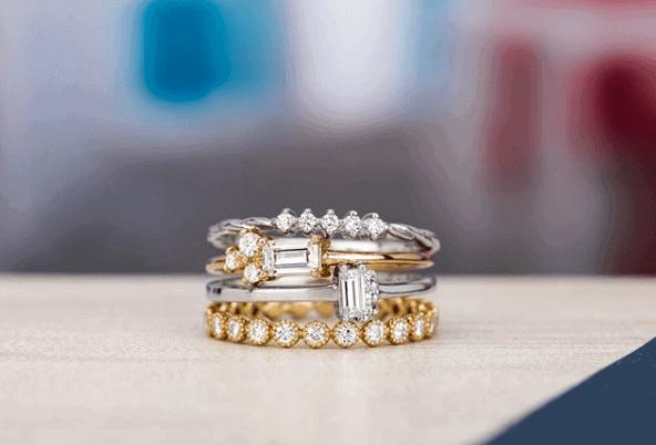 moissanite layered ring