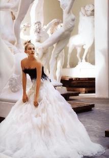 vestido novia blanco y negro