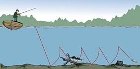 Как ловить окуня с лодки