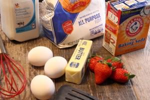 Strawberry pancake ingredients