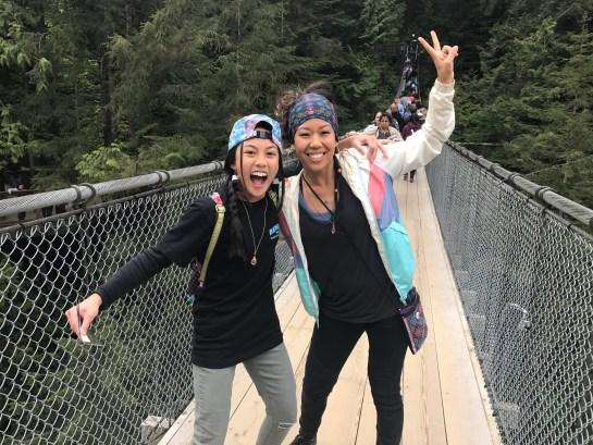 Logistix and I on the suspension bridge