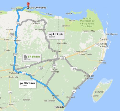 map to las coloradas