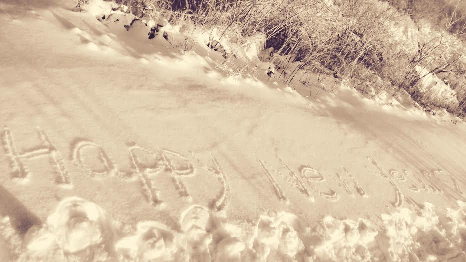 On the Path with You in Our Hearts, Always ... Snowshoeing Today!