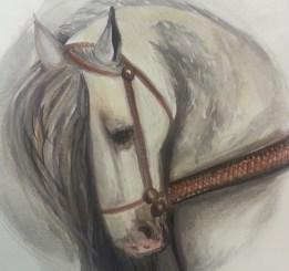 Watercolor war horse, S. Macera, Lovingcolor.net