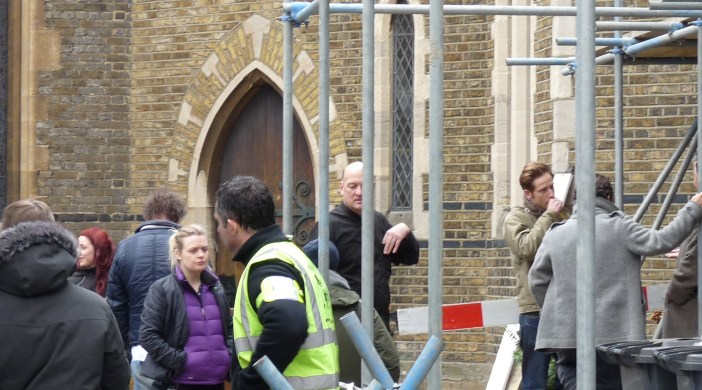 St Mark's Lon E8 filming feature about CND Feb 2012