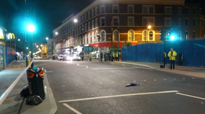 Accident aftermath @ pedestrian crossing in Dalston 7 June 2012 © David Altheer