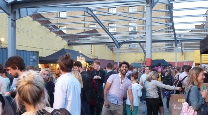Dalston Street Feast Lon E8 opening night 6 July 2012
