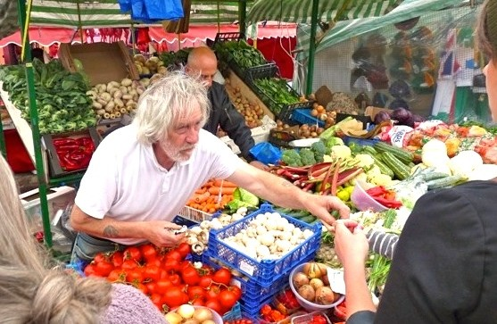 Ridley Road in Dalston: shopping at a market stall is a more personal experience than in a mall