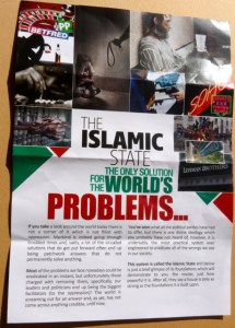 slamic Need4kilafah leaflet (1/2 sides) given out outside Kingsland Shopping Centre A10 London E8 1 Mar 2014 © david.altheer@gmail.com