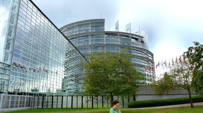 Europarly15: European Parliament, Strasbourg, France. Hearts On Fire cycle tour (Rhine source to sea-mouth): 200915 © david.altheer@gmail.com