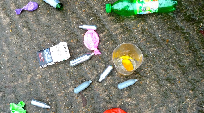 Laughing gas: Sat a.m. in Shoreditch 151114 © David Altheer