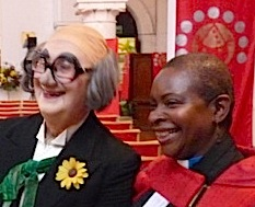 Rev Rose Hudson-Wilkin at clowns service 060211 Dalston Hackney © david.altheer@gmail.com