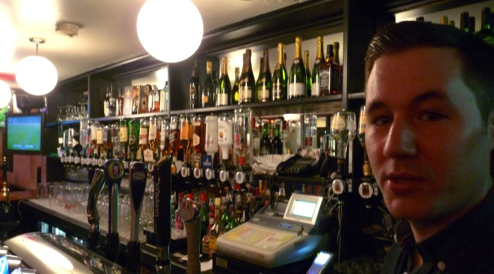 * Main picture: Mine host: Andrew Crump runs Molly Bloom's, the name-changing pub just south of the Kingsland Road junction