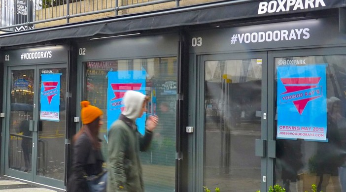 Ex #Guardiancoffee house, now Voodoo Ray's (No 2), 1-3, Bethnal Green Road, Shoreditch E1 6GY 040415 © DavidAltheer@gmail.com