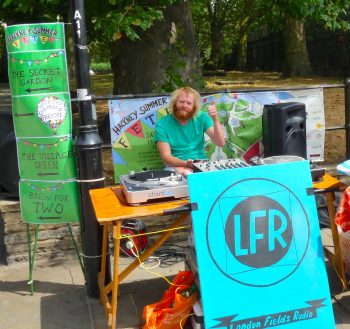 London Fields Radio @ Hackney Summer Fete nr St Augustine tower London E8 180715 © david.altheer@gmail.com