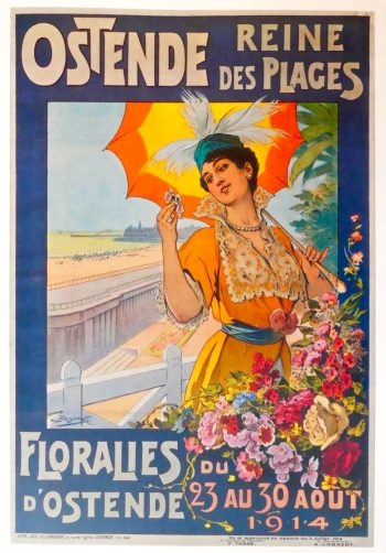 """Ostend: poster advertising the """"Queen of Beaches"""". Owned by Jean Field © DavidAltheer [at] gmail.com"""
