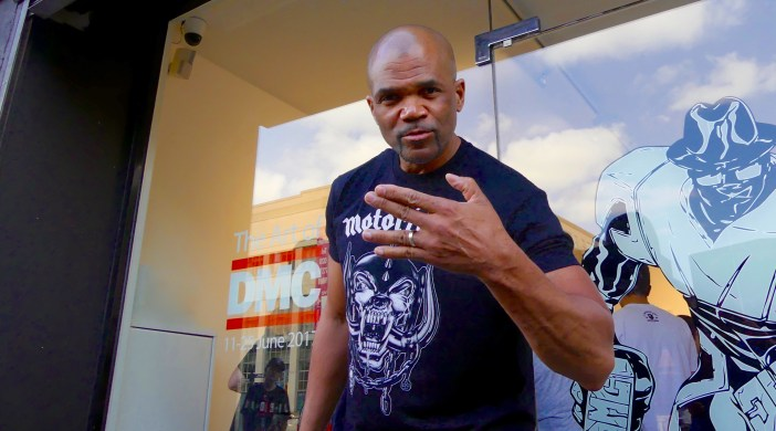 Darryl McDaniels @ Hang-Up Gallery in Stoke Newington London N16 to launch 'Darryl Makes Comics (DMC)' Fine Art, a collection of signed, limited-edition prints 100617 © david.alther{@]gmail,com