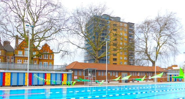 LonFieldsLido©DA18:© david.altheer@gmail.com London Fields Lido #Dalston #Hackney E8 030118