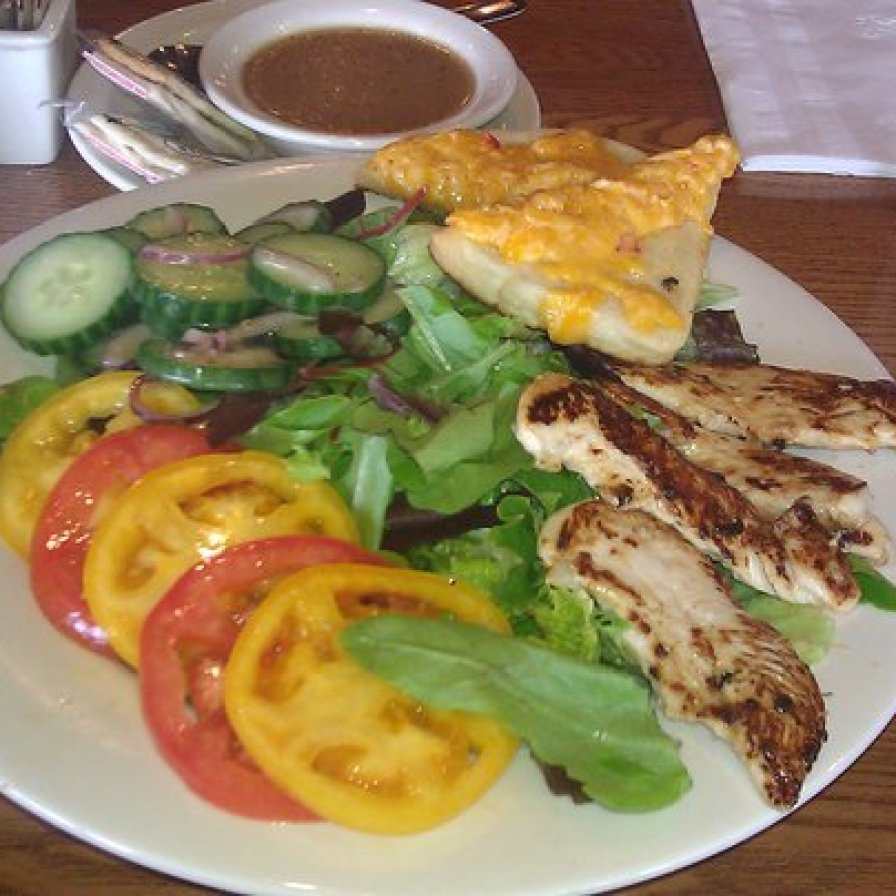 Cracker Barrel Grilled Chicken n' Summertime Vegetable Salad